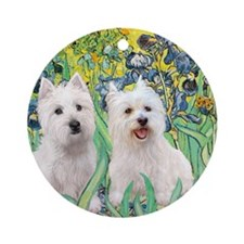 MP2-rises-Westies 3and11-smaller Round Ornament