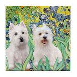 Westie dog Coasters