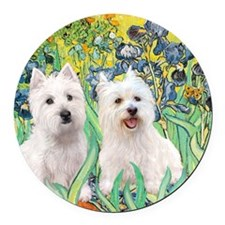 MP2-rises-Westies 3and11-smaller Round Car Magnet