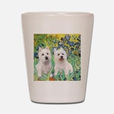 MP2-rises-Westies 3and11-smaller Shot Glass
