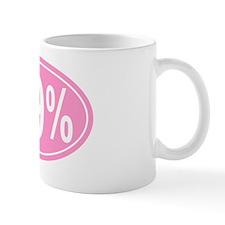 99 % oval pink Mug