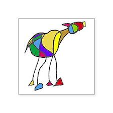 """horse Square Sticker 3"""" x 3"""""""