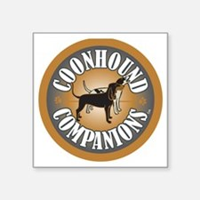 """Coonhound-Companion-logo_em Square Sticker 3"""" x 3"""""""