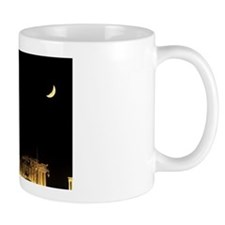 Greece, Athens, Acropolis. Moonrise ove Mug