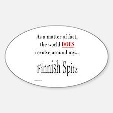Finnish Spitz World Oval Decal