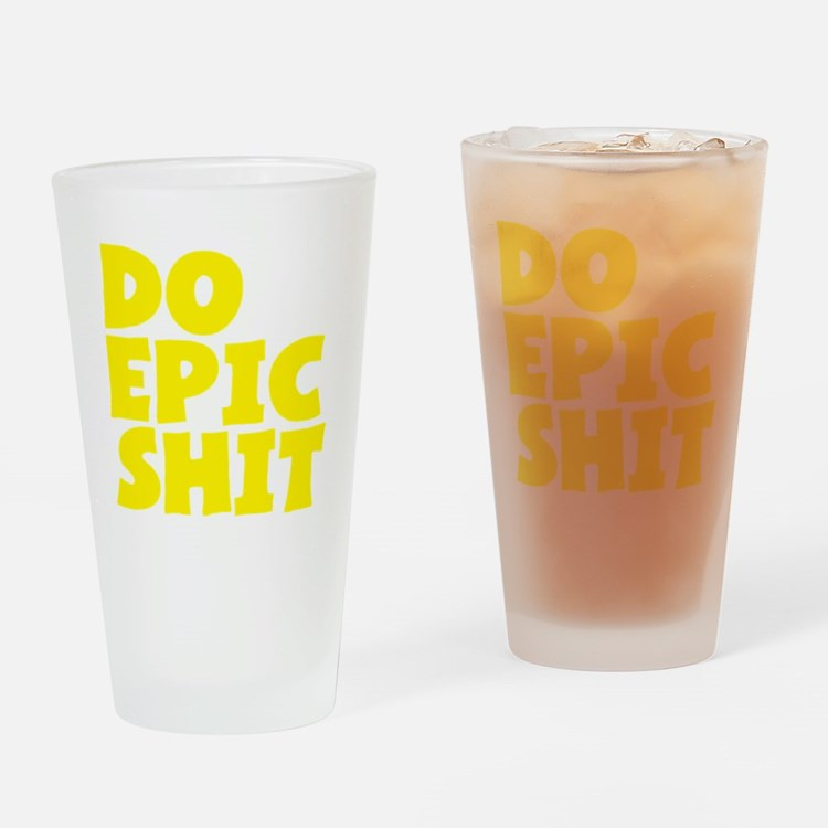 2000x2000doepicshit2clear Drinking Glass