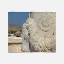 Delos. Ruins along the Sacred WayRui Throw Blanket