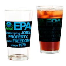 epa_destroyjobsblkbg Drinking Glass