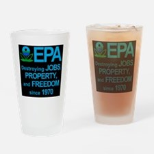 epa_destroyjobsblkbg Drinking Glass