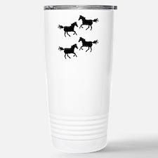 Black Wild Horses Travel Mug