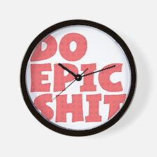 2000x2000doepicshitb2clear Wall Clock