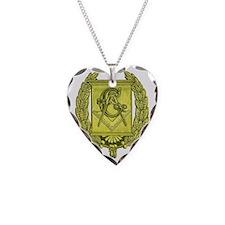 Masonic Gold Emblem Necklace