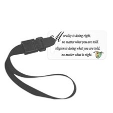 Morality1 Luggage Tag