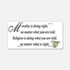 Morality1 Aluminum License Plate