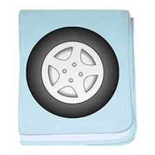 Car Tire and Rim baby blanket