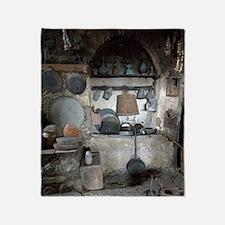 Greece, Meteora. Kitchen of Grand Me Throw Blanket