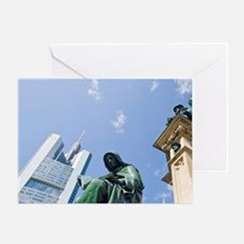 View from Goethe Platz square Main.  Greeting Card