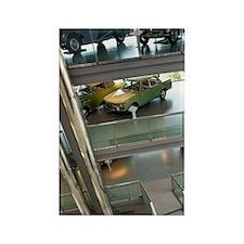 Interior of Zeithaus Auto Museumg Rectangle Magnet