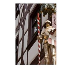 Statue of knight and drag Postcards (Package of 8)