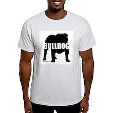 Black Bulldog Ash Grey T-Shirt