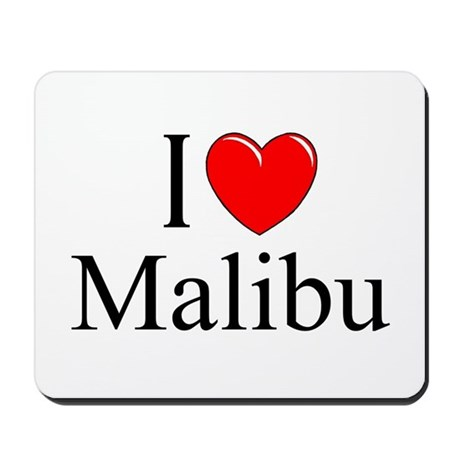 """I Love Malibu"" Mousepad"