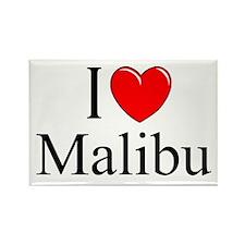"""I Love Malibu"" Rectangle Magnet"