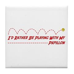 Papillon Play Tile Coaster