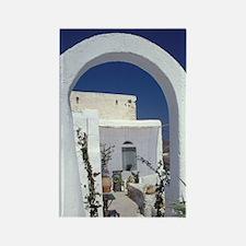 Chora houses, deep blue Aegean Se Rectangle Magnet
