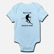 Born To Ski Forced To Work Body Suit