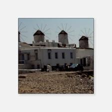"Historic windmills in dista Square Sticker 3"" x 3"""