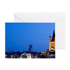Cologne. Evening over the Gross St.  Greeting Card