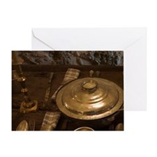 Meteora. Place settings in dining ha Greeting Card