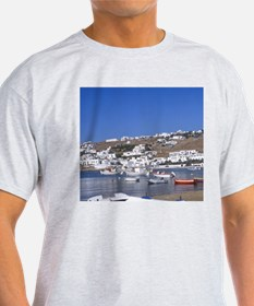 Greece, Mykonos. Fishing boats in th T-Shirt