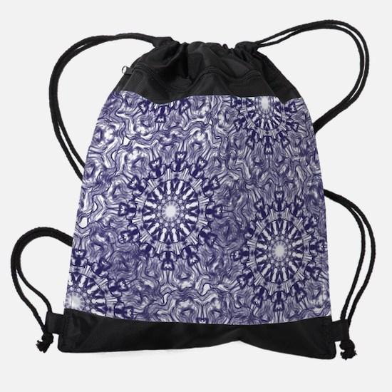 Blue Lace Drawstring Bag