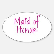 Maid of Honor Oval Decal