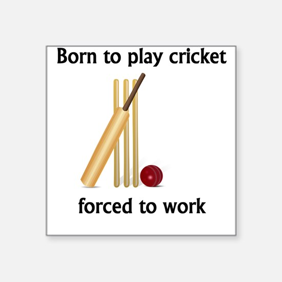 Born To Play Cricket Forced To Work Sticker