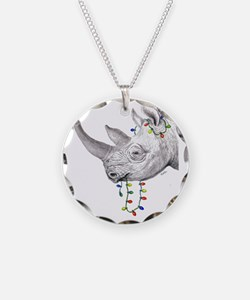 rhinolights Necklace Circle Charm