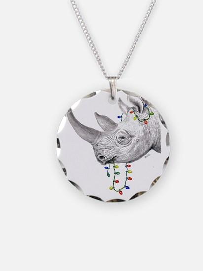 rhinolights Necklace Circle Charm