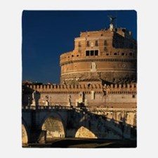 Italy, Rome, Castel Sant'Angelo and  Throw Blanket