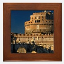 Italy, Rome, Castel Sant'Angelo and ri Framed Tile