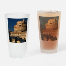 Italy, Rome, Castel Sant'Angelo and Drinking Glass