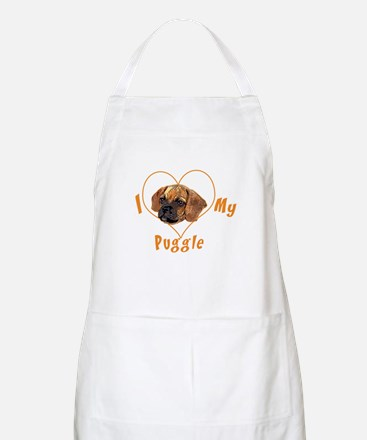 I love my puggle (orange) BBQ Apron