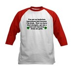 Inebriate Leprechaun Irish Kids Baseball Jersey