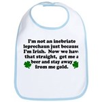 Inebriate Leprechaun Irish Bib