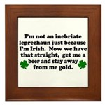 Inebriate Leprechaun Irish Framed Tile