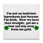 Inebriate Leprechaun Irish Tile Coaster
