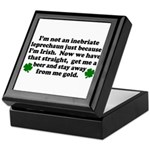 Inebriate Leprechaun Irish Keepsake Box