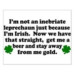 Inebriate Leprechaun Irish Small Poster