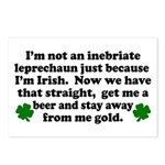 Inebriate Leprechaun Irish Postcards (Package of 8