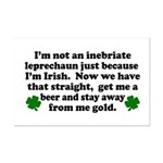 Inebriate Leprechaun Irish Mini Poster Print